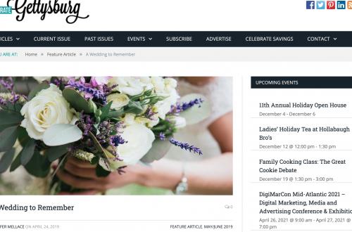 Celebrate Gettysburg – A Wedding to Remember