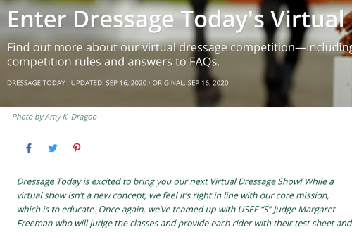 Dressage Today's Virtual Show