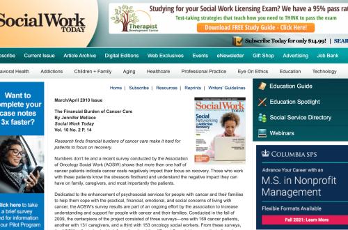 Social Work Today – The Financial Burden of Cancer Care