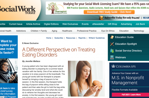 Social Work Today – A Different Perspective on Treating Eating Disorders